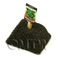 Dolls House Miniature Turnip Seed Packet With A Stick