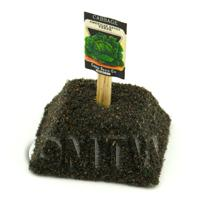 Dolls House Miniature Savoy Cabbage Seed Packet With A Stick