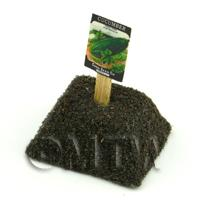 Dolls House Miniature Cucumber Seed Packet With A Stick