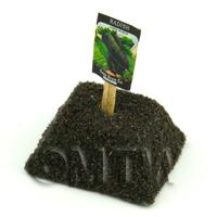 Dolls House Miniature Black Radish Seed Packet With A Stick