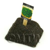Dolls House Miniature Dwarf Kale Seed Packet With A Stick