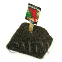 Dolls House Miniature Long Radish Seed Packet With A Stick