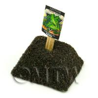 Dolls House Miniature Rapids Lettuce Seed Packet With A Stick