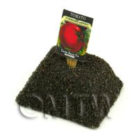 Dolls House Miniature Tomato Seed Packet With A Stick