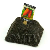 Dolls House Miniature Danvers Carrot Seed Packet With A Stick