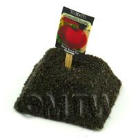 Dolls House Miniature John Baer Tomato Seed Packet With A Stick