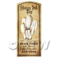 Dolls House Miniature Apothecary Shaggy Ink Cap Fungi Colour Label