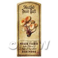 Dolls House Miniature Apothecary Sheathed Woodtuft Fungi Colour Label