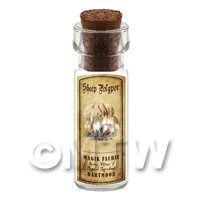 Dolls House Apothecary Sheep Polypor Fungi Bottle And Colour Label