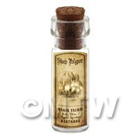 Dolls House Miniature Apothecary Sheep Polypor Fungi Bottle And Label