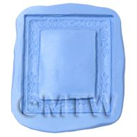 Dolls House Miniature Reusable Floral Frame Silicone Mould