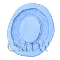 Dolls House Miniature Reusable Tiny Oval Frame Silicone Mould