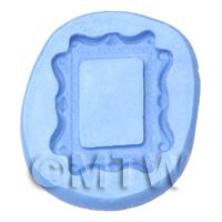 Dolls House Miniature Reusable Small Rectangle Frame Silicone Mould
