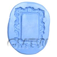 Dolls House Miniature Reusable Rectangle Picture Frame Silicone Mould