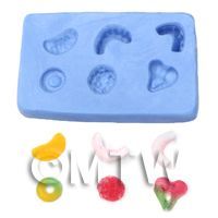Dolls House Miniature Reusable Jelly sweet Silicone Mould 1