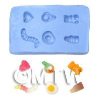 Dolls House Miniature Reusable Jelly Sweet Silicone Mould 2