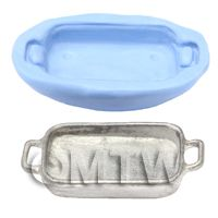 Dolls House Miniature Reusable Roasting Tray Silicone Mould