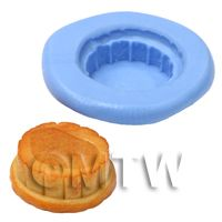 Dolls House Miniature Reusable Deep Pie Base Silicone Mould