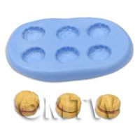 Dolls House Miniature Vanilla Biscuit Silicone Mould