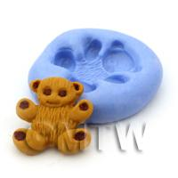 Dolls House Miniature Small Bear Cake Reusable Silicone Mould
