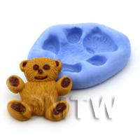 Dolls House Miniature Large Bear Cake Reusable Silicone Mould