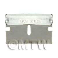 Dolls House Miniature - One Ultra Fine 0.2mm Single Edged Blade