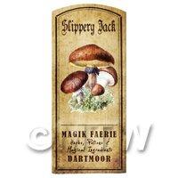 Dolls House Miniature Apothecary Slippery Jack Fungi Colour Label