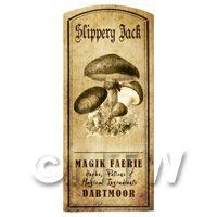 Dolls House Miniature Apothecary Slippery Jack Fungi Label