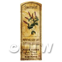 Dolls House Herbalist/Apothecary Spearmint Herb Long Colour Label