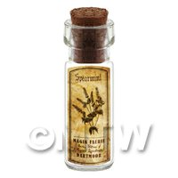 Dolls House Apothecary Spearmint Herb Short Sepia Label And Bottle