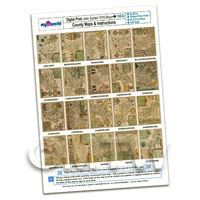 Dolls House 20 Aged John Speed UK County Maps A4 Value Sheet 1