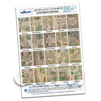Dolls House 20 John Speed UK County Maps A4 Value Sheet 1