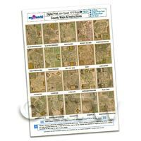 Dolls House 20 Aged John Speed UK County Maps A4 Value Sheet 2