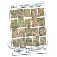Dolls House 20 John Speed UK County Maps A4 Value Sheet 2
