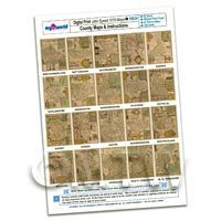 Dolls House 20 Aged John Speed UK County Maps A4 Value Sheet 3