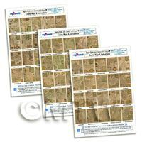 Dolls House Miniature - Dolls House 3 x Aged John Speed UK County Maps A4 Value Sheets (60 Maps)