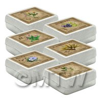 Dolls House Herbalist/Apothecary Square Herb Box Set 2