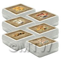 free dolls house miniature free dolls house miniature Square Mushroom Box Set