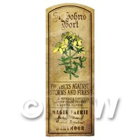 Dolls House Herbalist/Apothecary St Johns Wort Herb Long Colour Label