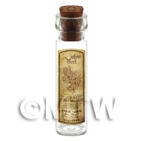 Dolls House Apothecary St Johns Wort Herb Long Sepia Label And Bottle