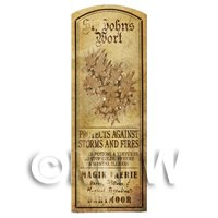 Dolls House Herbalist/Apothecary St Johns Wort Herb Long Sepia Label