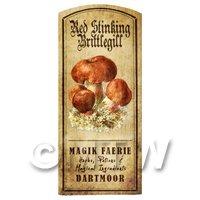 Dolls House Miniature Apothecary Stinking Brittlegill Fungi Colour Label