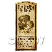 Dolls House Miniature Apothecary Stinking Brittlegill Fungi Label