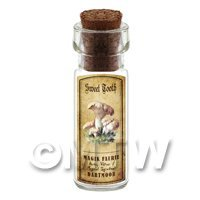 Dolls House Apothecary Sweet Tooth Fungi Bottle And Colour Label