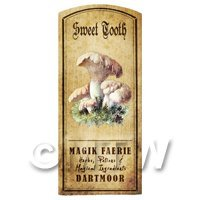 Dolls House Miniature Apothecary Sweet Tooth Fungi Colour Label