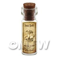 Dolls House Miniature Apothecary Sweet Tooth Fungi Bottle And Label
