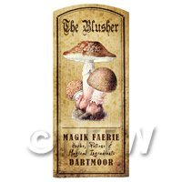Dolls House Miniature Apothecary The Blusher Fungi Colour Label