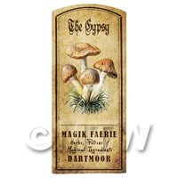 Dolls House Miniature Apothecary The Gypsy Fungi Colour Label