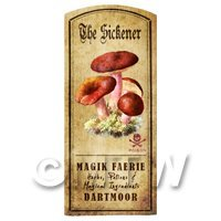 Dolls House Miniature Apothecary The Sickener Fungi Colour Label