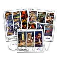 Dolls House Miniature Complete Thurston Magic Poster Set of 12 Posters